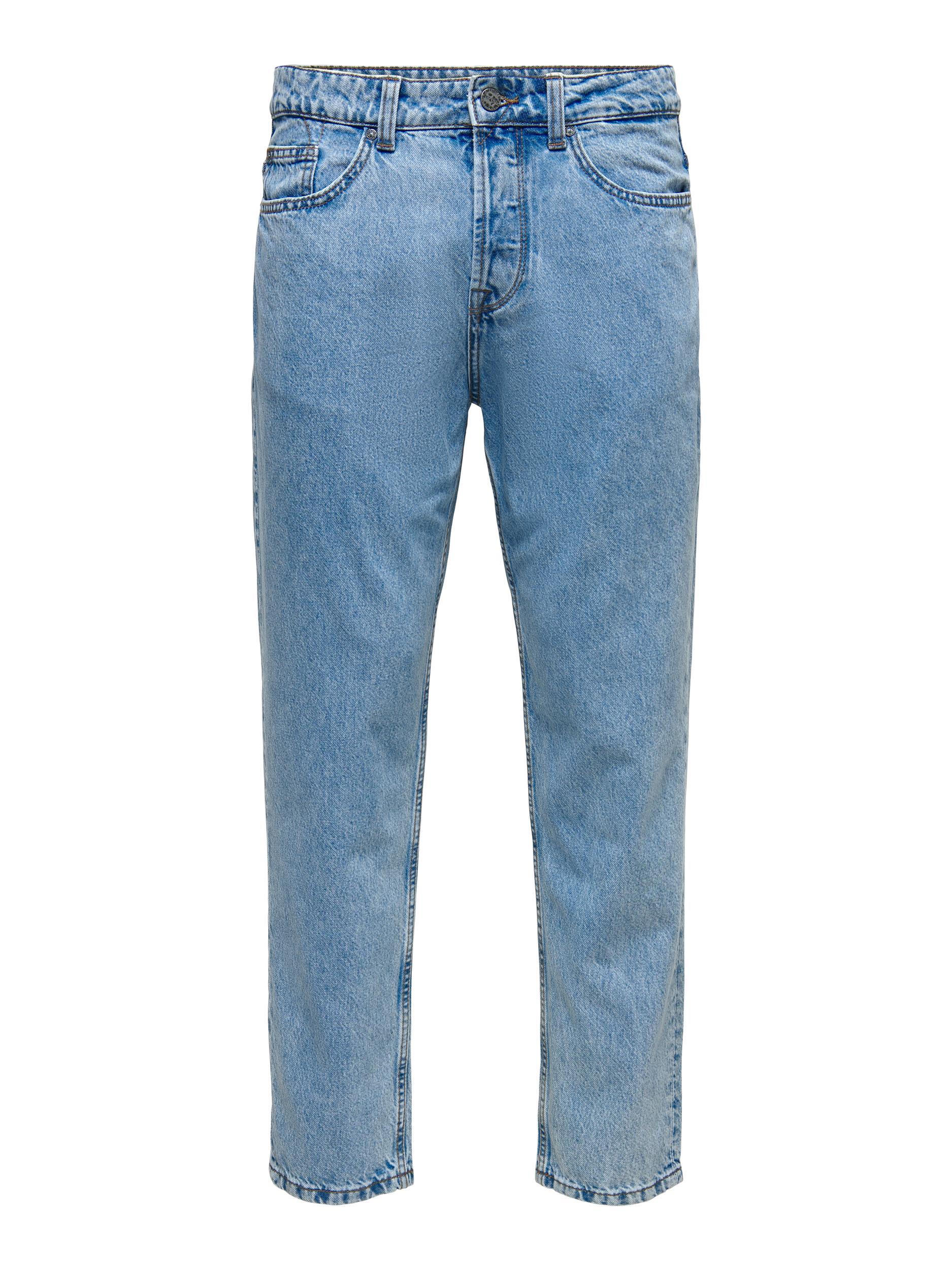 Only & Sons Avi Beam Life Crop Jeans, Blue Denim, W28/L32