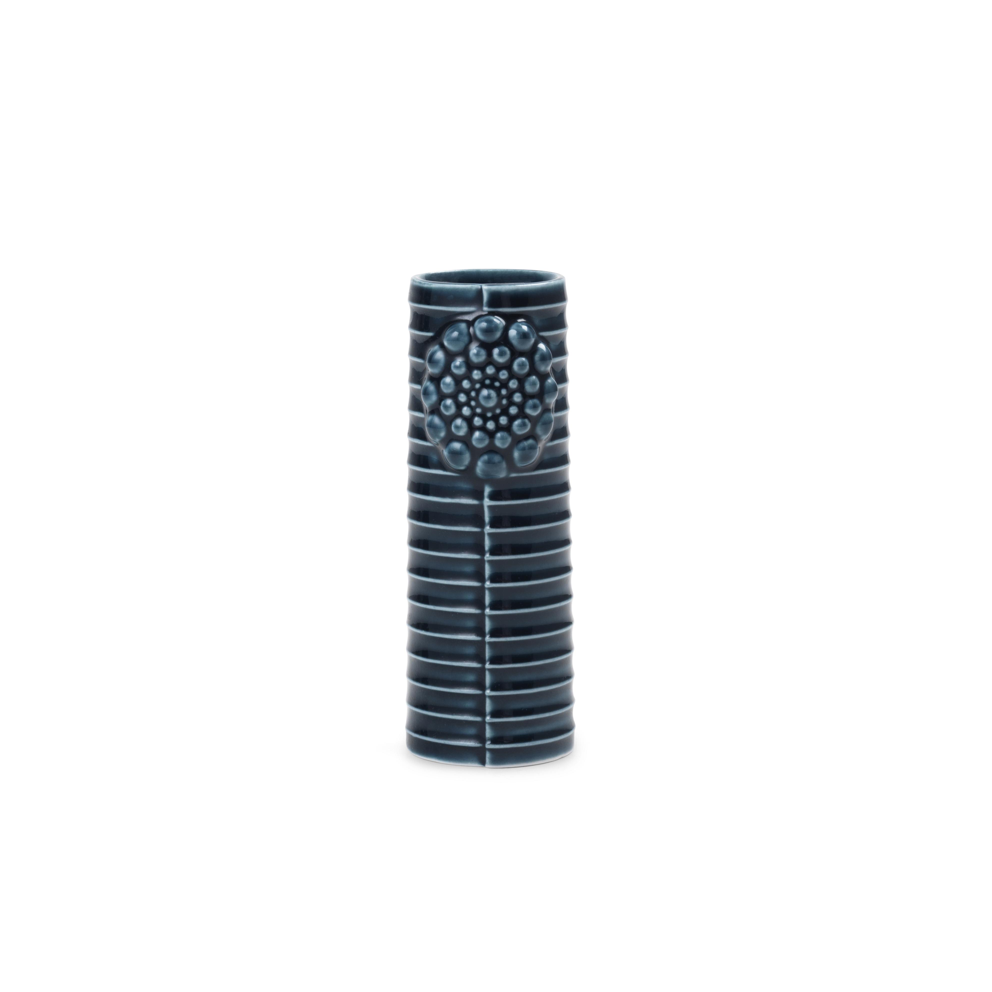 DOTTIR Pipanella Lines vase, micro, petrol