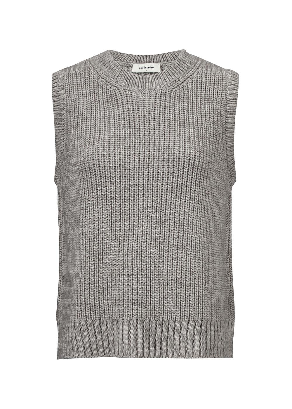 Modström Timme vest, light grey melange, x-large
