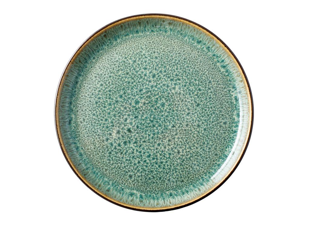 Bitz Gastro tallerken, Ø17 cm, sort/grøn
