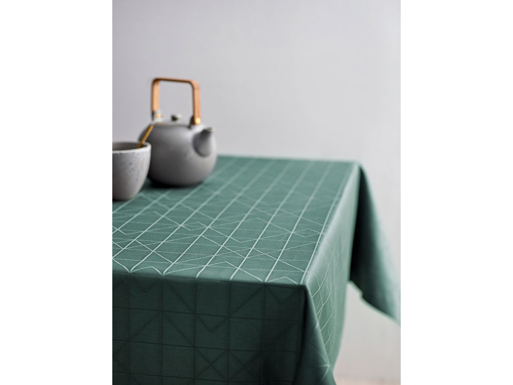 Södahl Refined organic damaskdug, 140x220 cm, green
