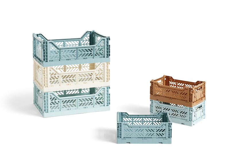 HAY Colour Crate kasse, small, arctic blue