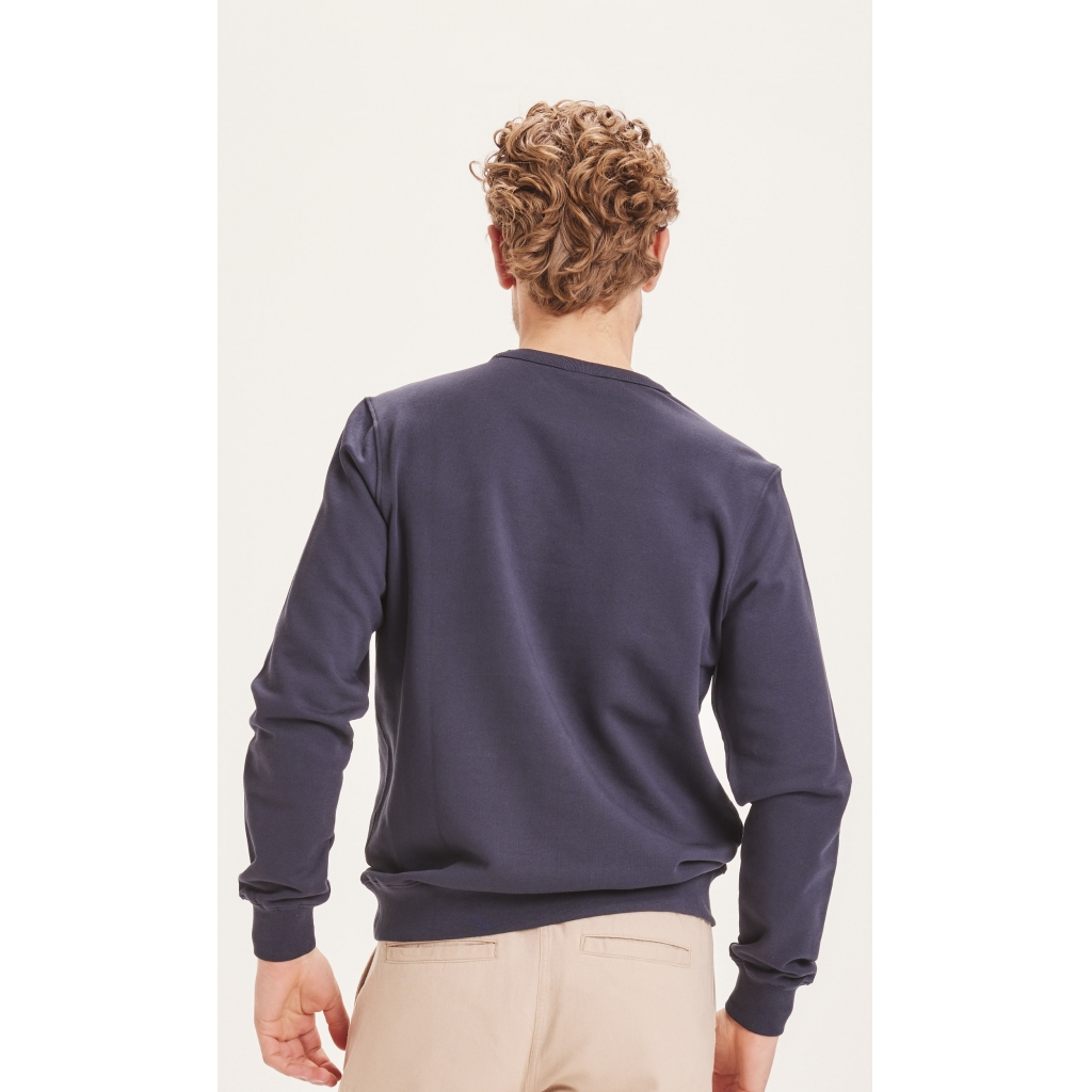 Knowledge Cotton Apparel ELM sweatshirt, total eclipse, small