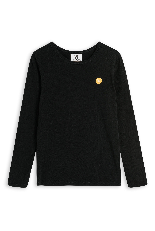 Wood Wood Double A Moa L/S t-shirt, black, medium