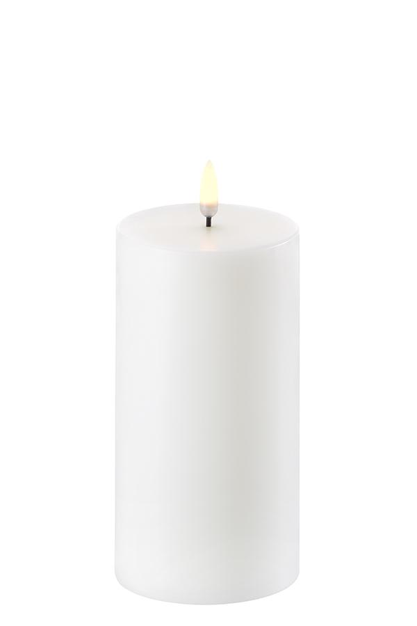 Uyuni LED bloklys, 8x15 cm, nordic hvid