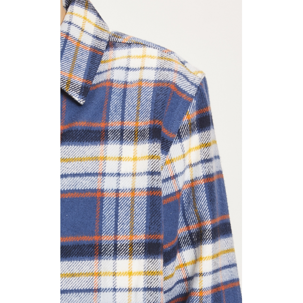 KnowledgeCotton Apparel Pine Skjortejakke, Total Eclipse, M