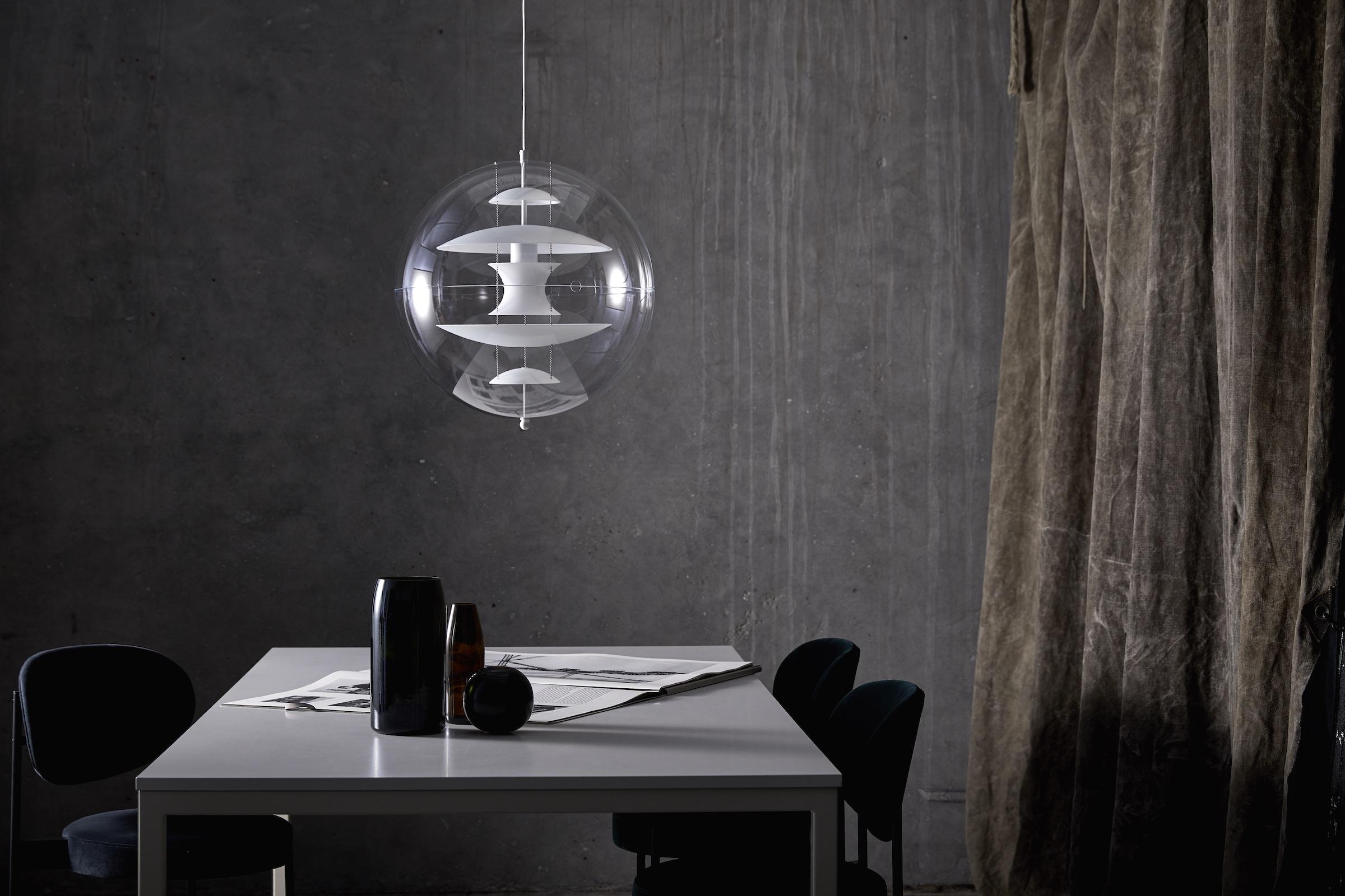 Verner Panton Globe Glass pendel, 40 cm