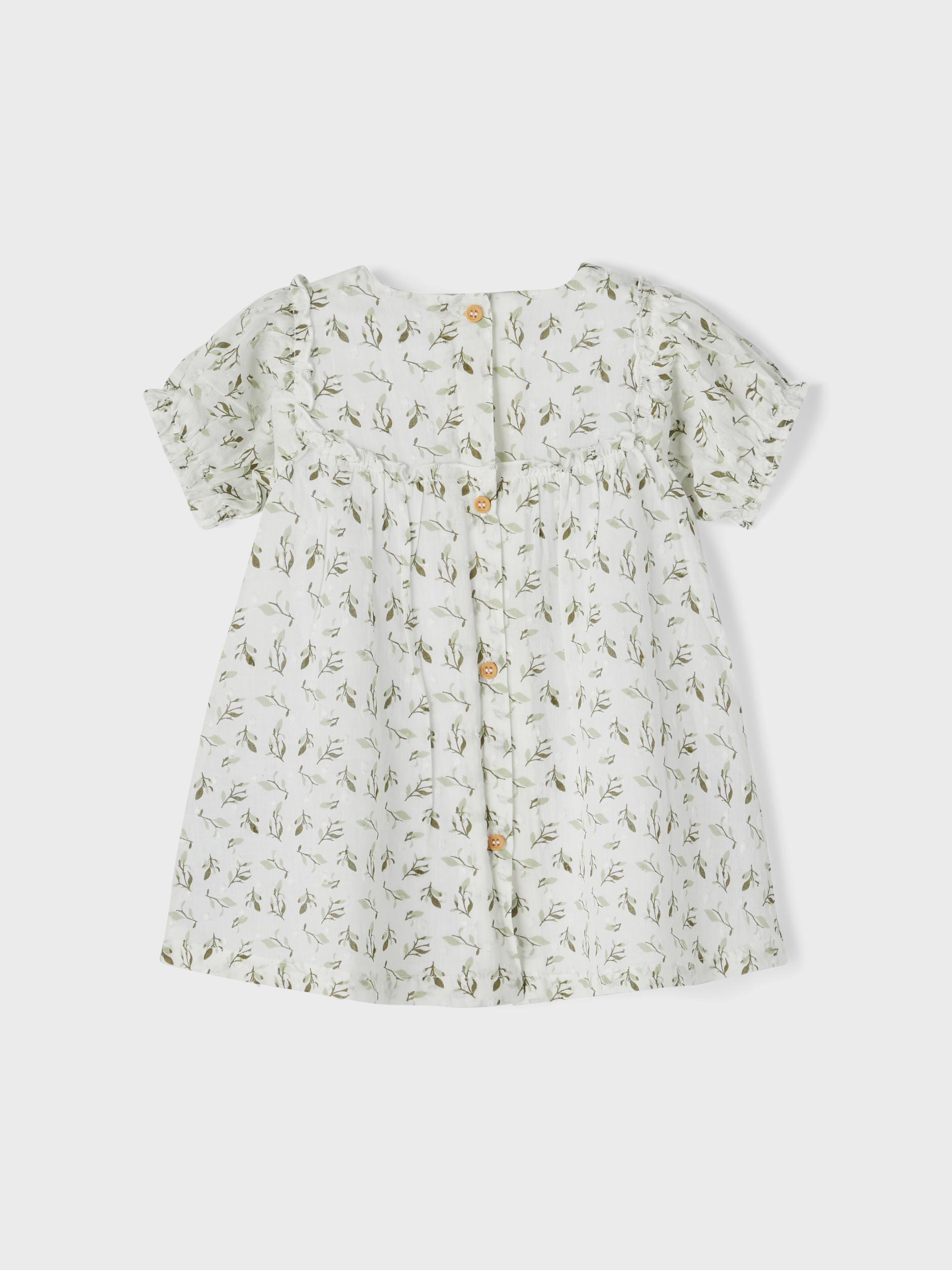 Name It Hajette SS kjole, bright white, 74