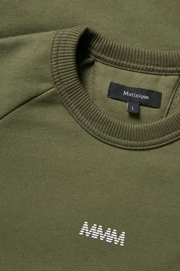 Matinique Logo Sweatshirt, Olive Night, Medium