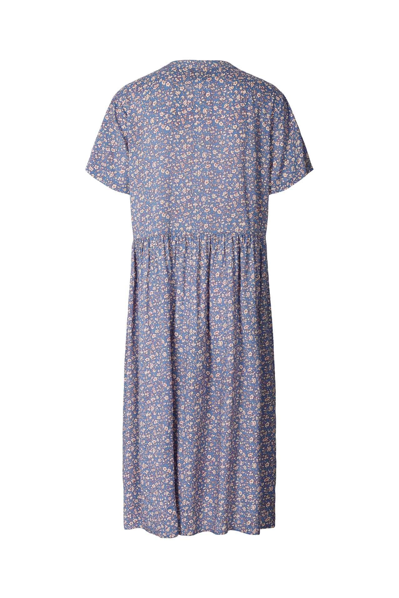 Lollys Laundry Aliya kjole, blue, large