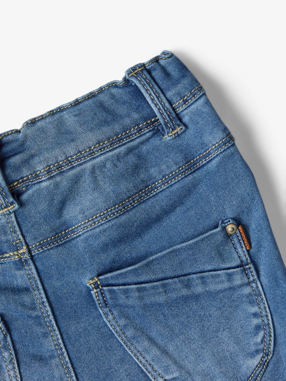 Name It Polly Denim leggings, medium blue denim, 128
