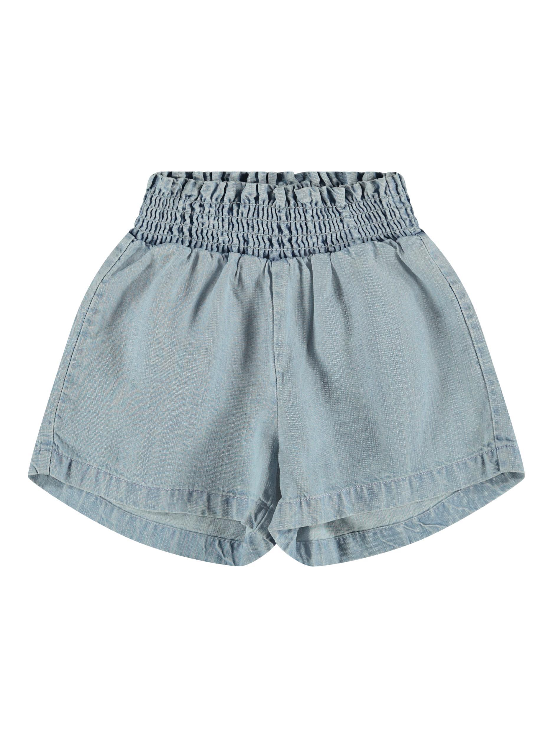 Name It Becky shorts, light blue denim, 104