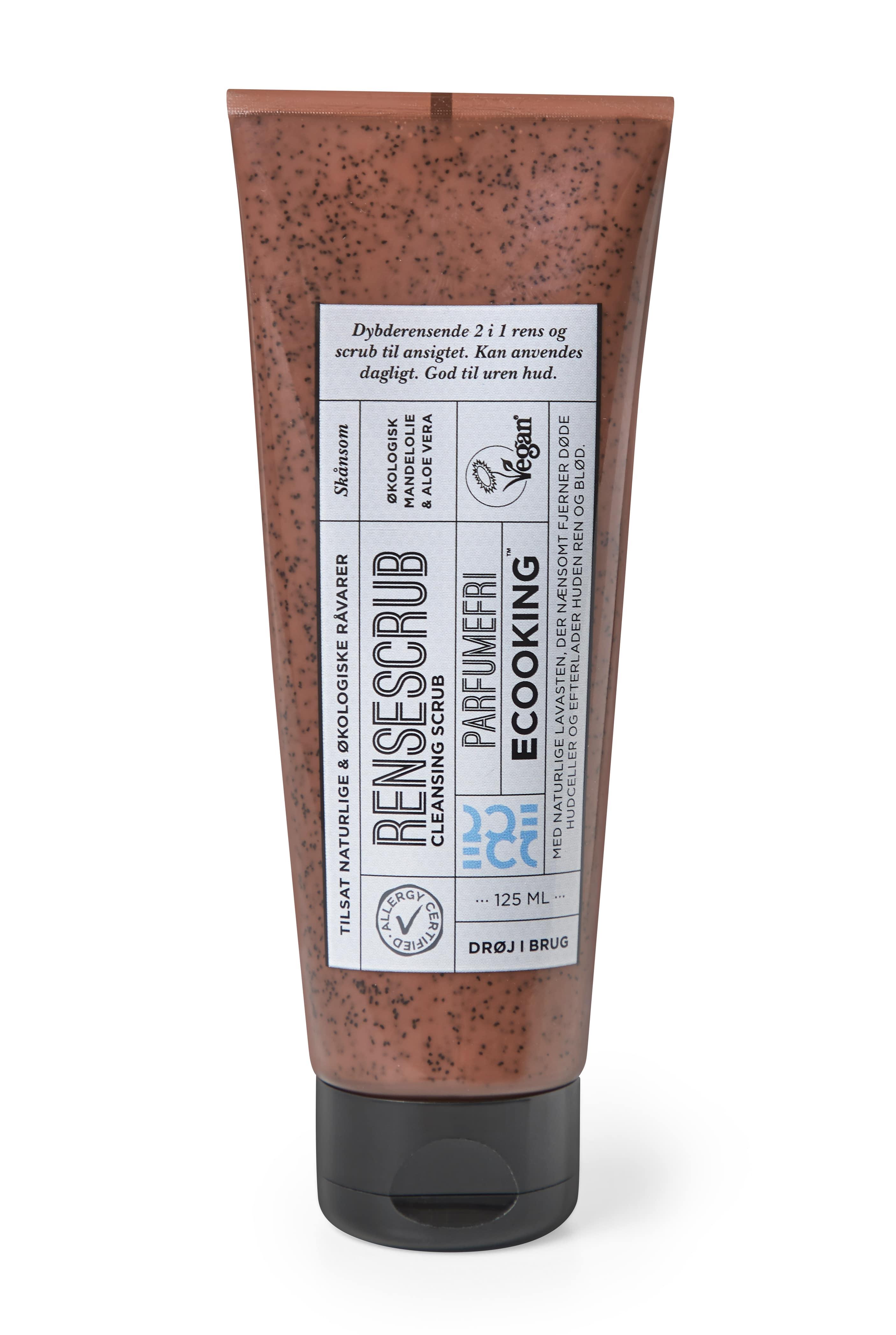 Ecooking Parfumefri Rensescrub, 125 ml