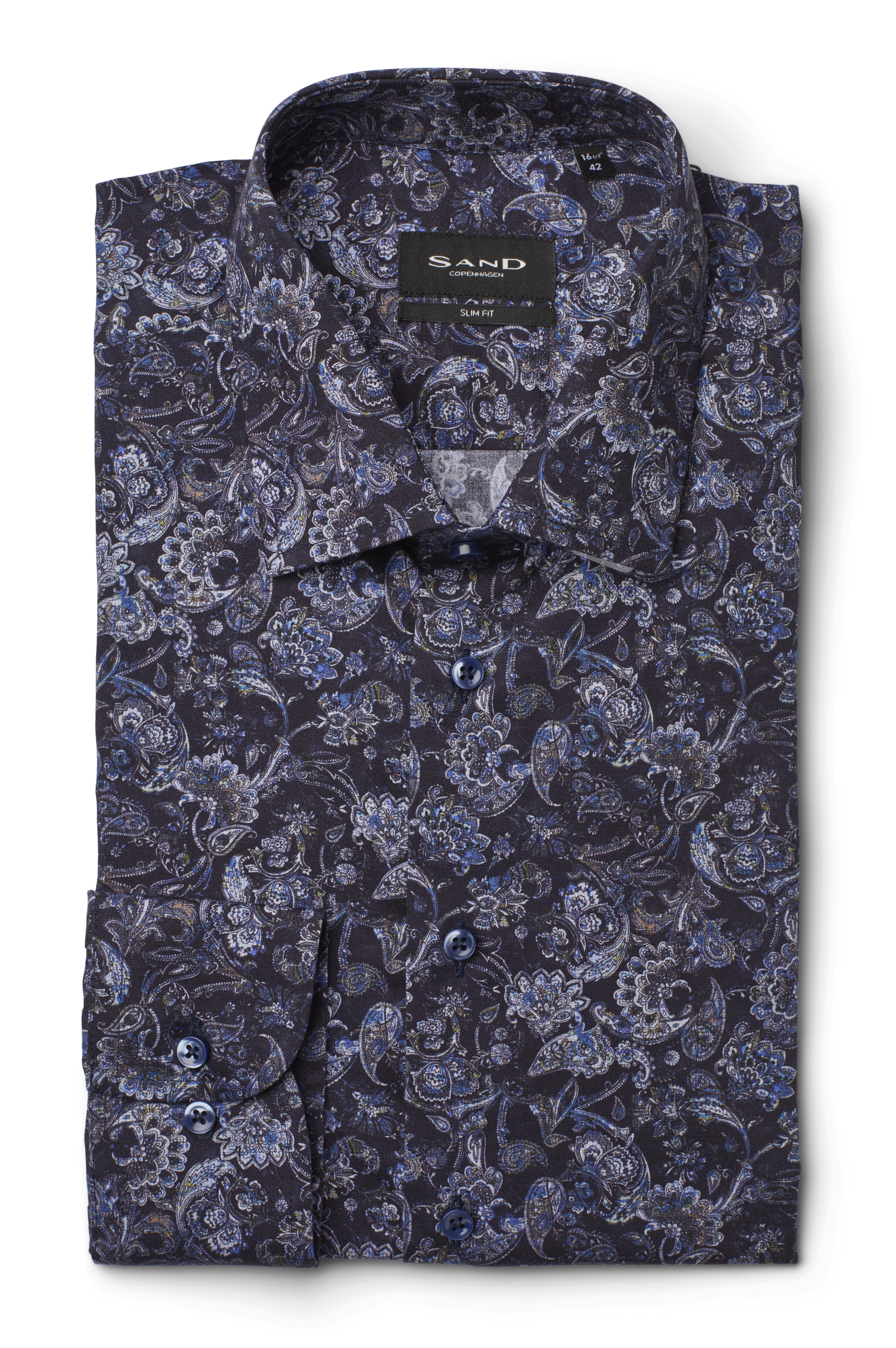 SAND 8853 Iver 2 skjorte, dark blue/navy, 44