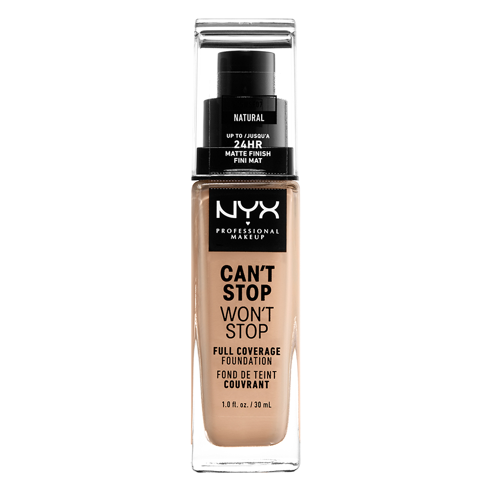 NYX Professional Makeup Cant Stop Wont Stop 24-Hours Foundation, natural
