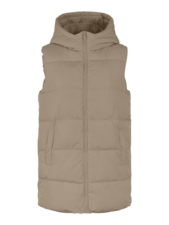Pieces Bee vest, silver mink, medium