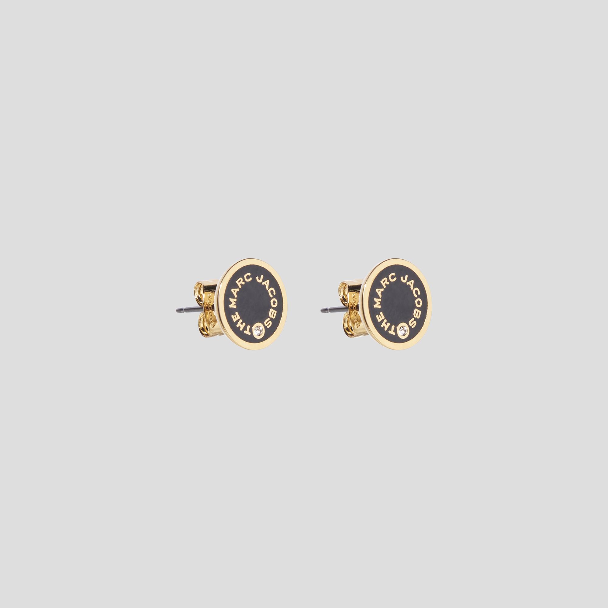Marc Jacobs The Medallion Studs øreringe, black/gold