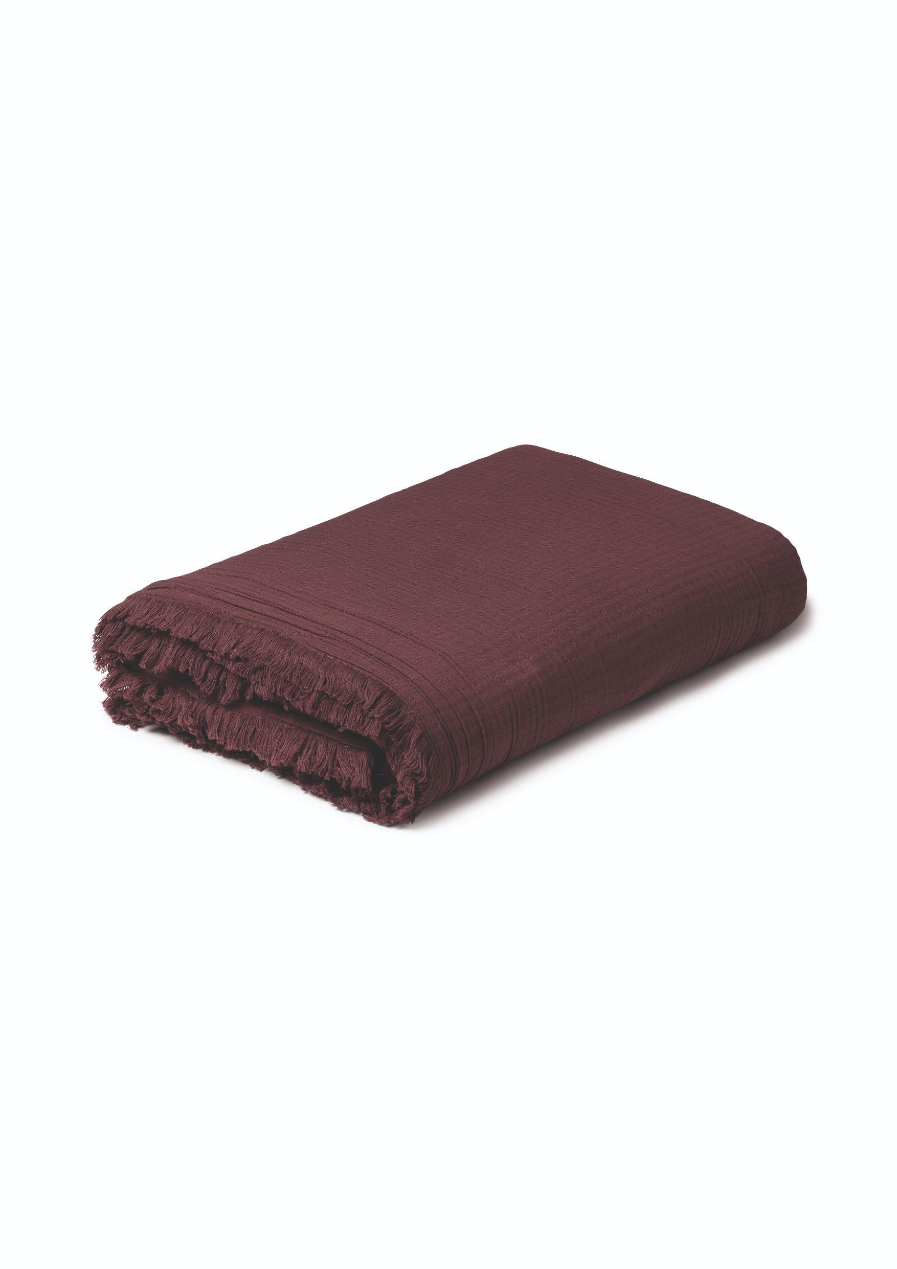 Juna View sengetæppe, 240x260 cm, chokolade