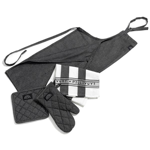 Bastian tekstilsæt, grå, 6 dele