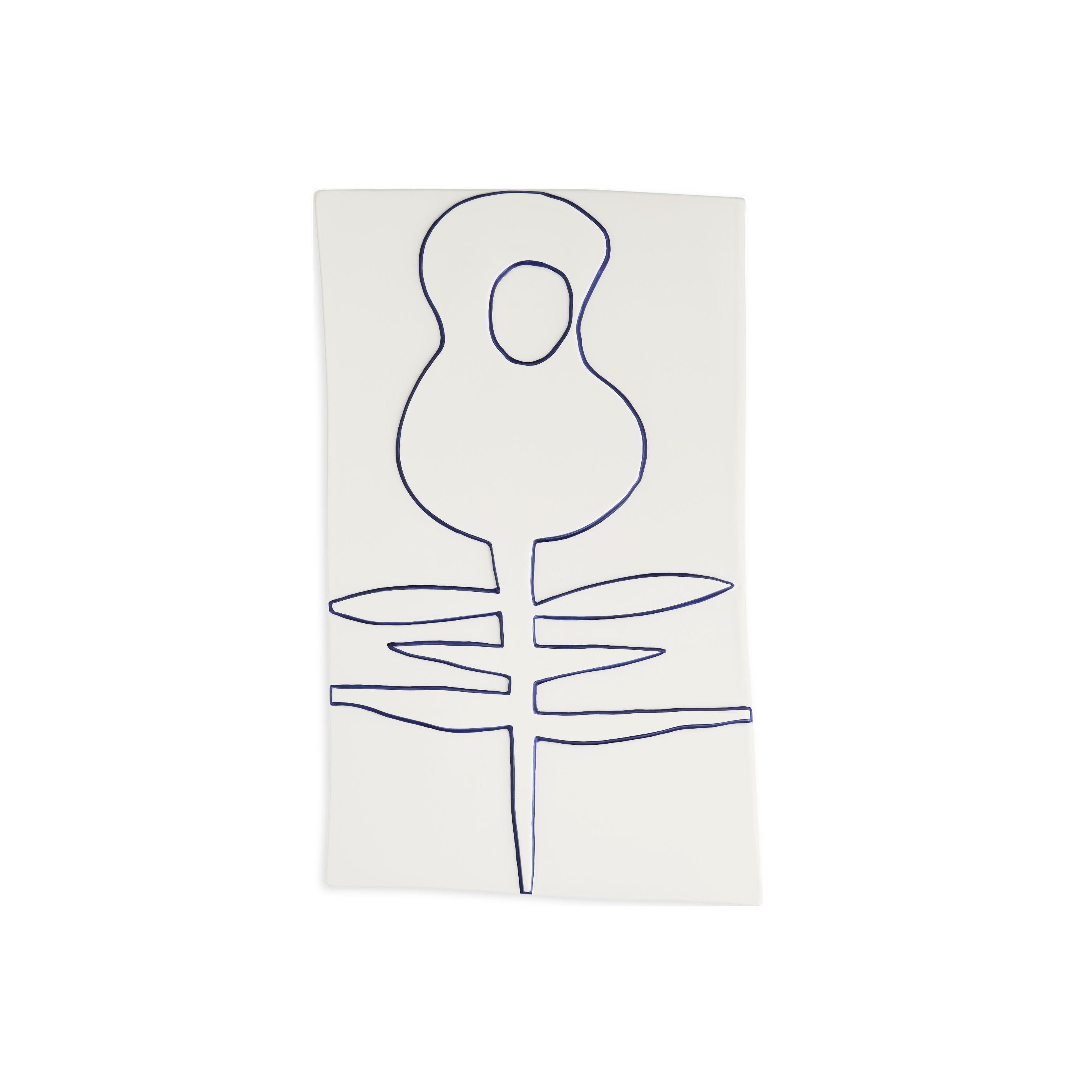 Kähler Relief blomst vægophæng, 27x44 cm, hvid