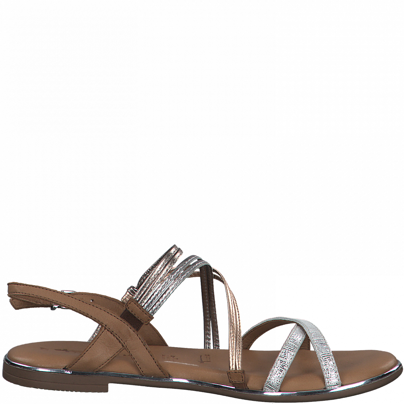 Tamaris 28145 sandal, silver comb, 36