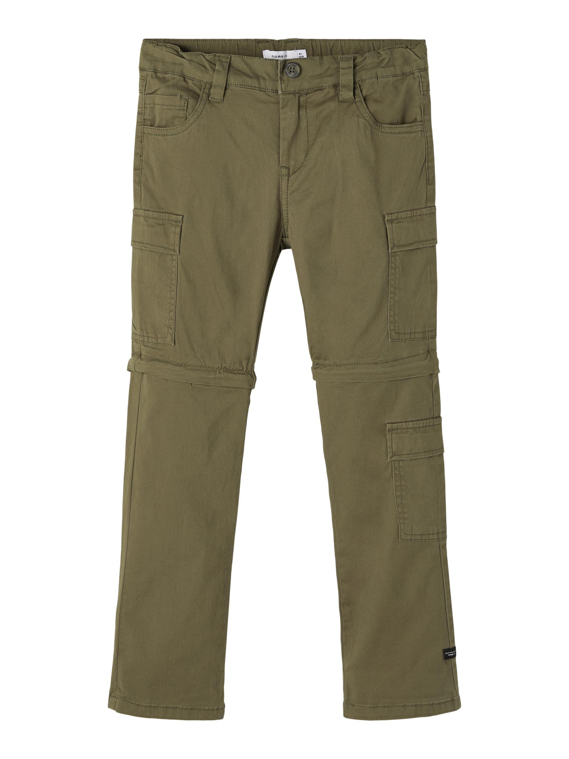 Name It Barry zip-off pants, ivy green, 128