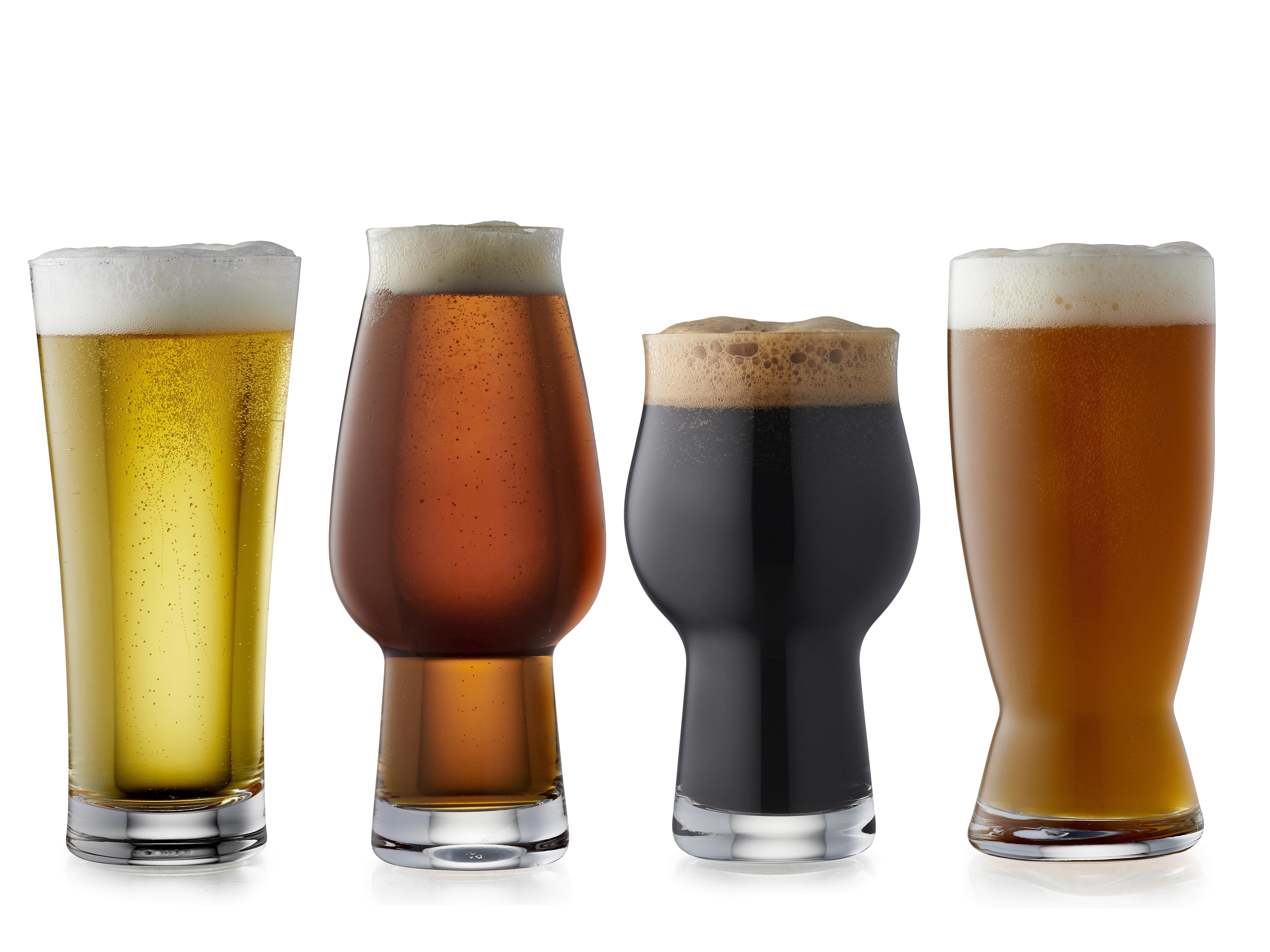 Lyngby-Glas ølglas, 4 stk