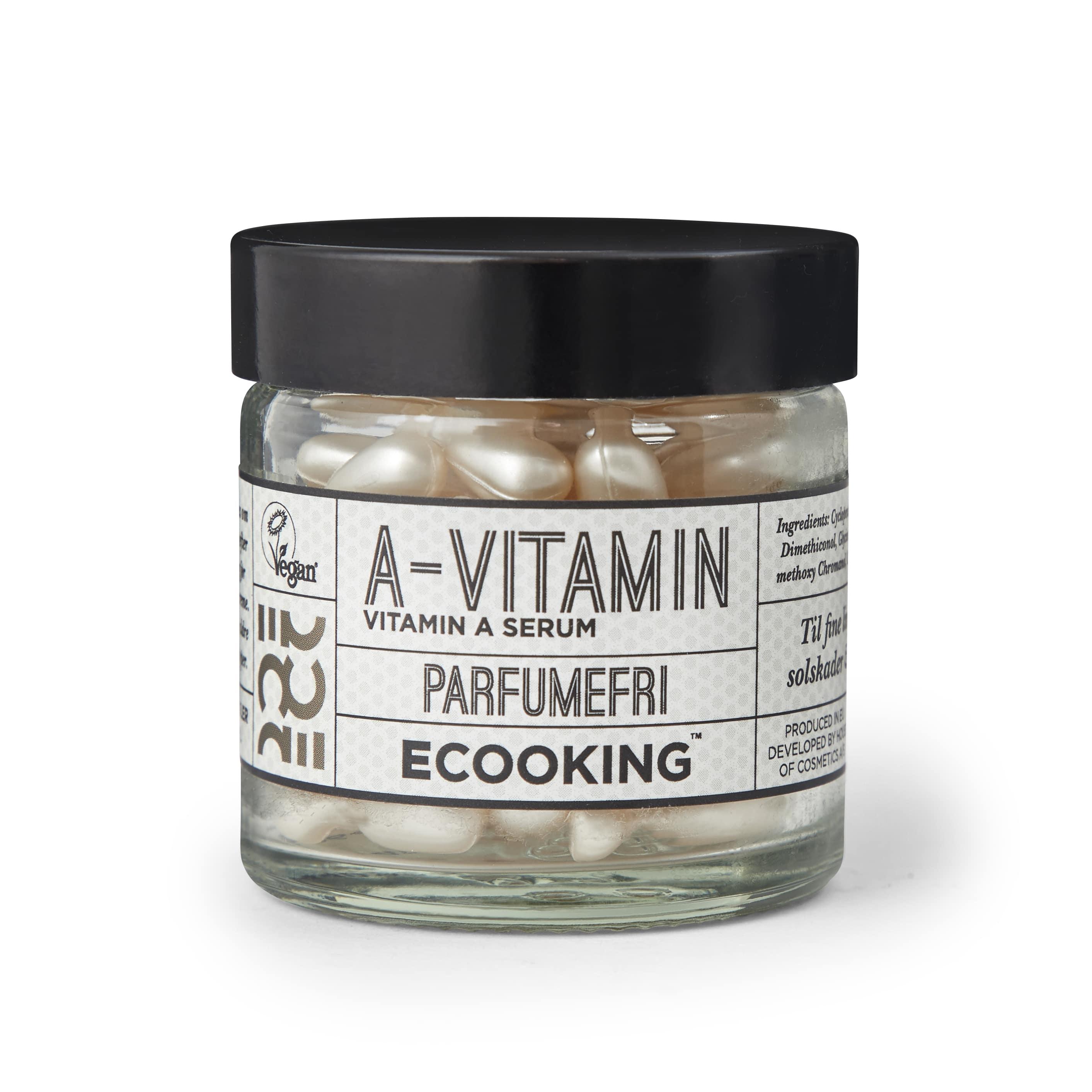 Ecooking Parfumefri A-Vitamin Serum Kapsler, 60 stk