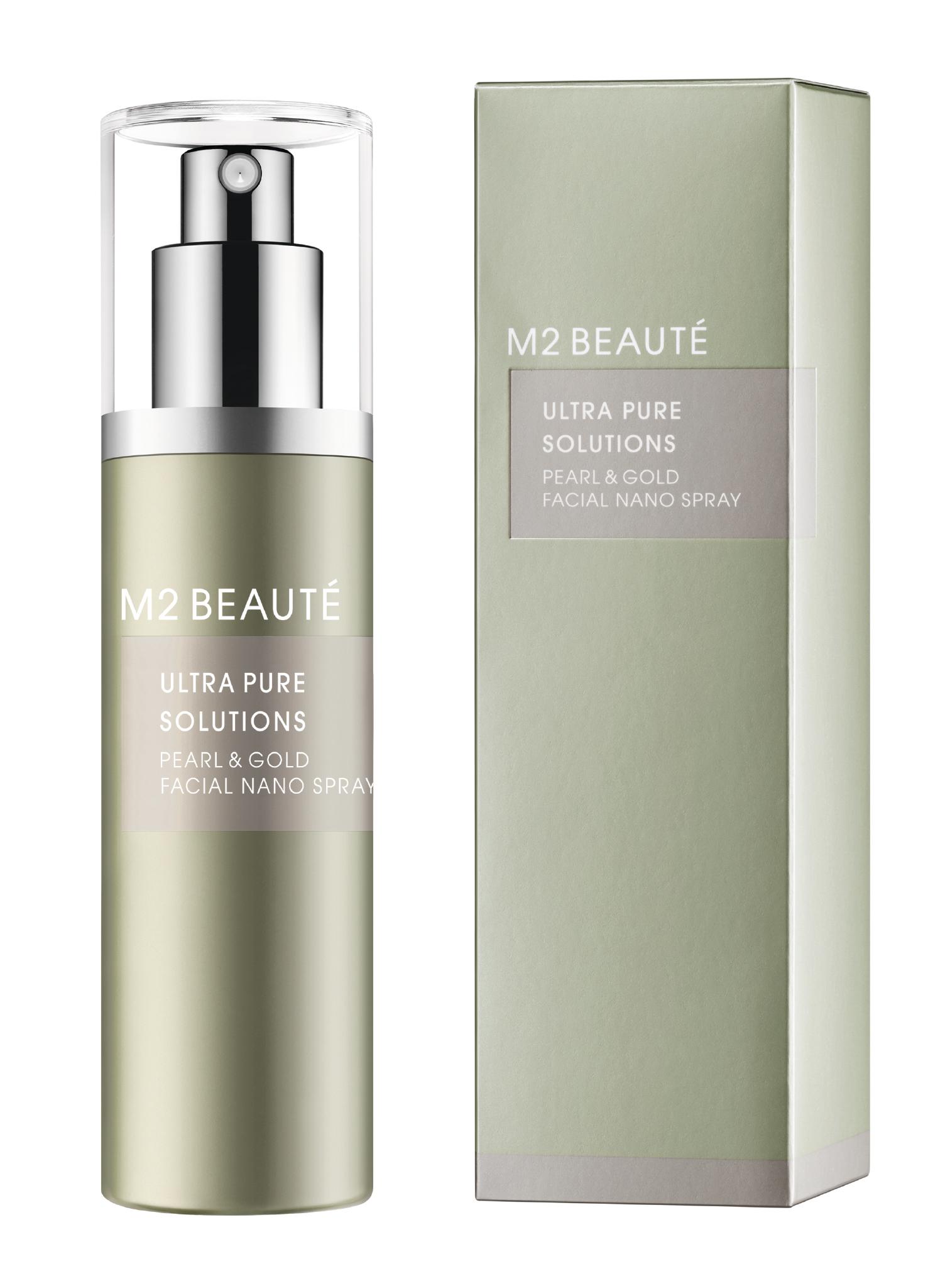 M2 Beauté Pearl & Gold Facial Nano Spray, 75 ml