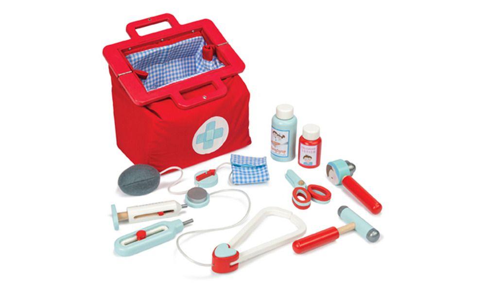 Le Toy Van Lægetaske m. lægeinstrumenter, 9 dele