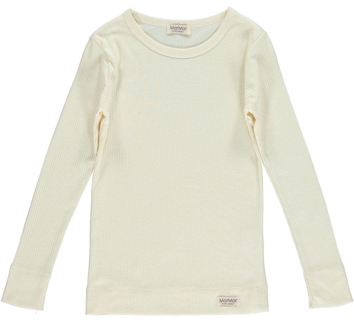MarMar Plain t-shirt LS, creme, 74
