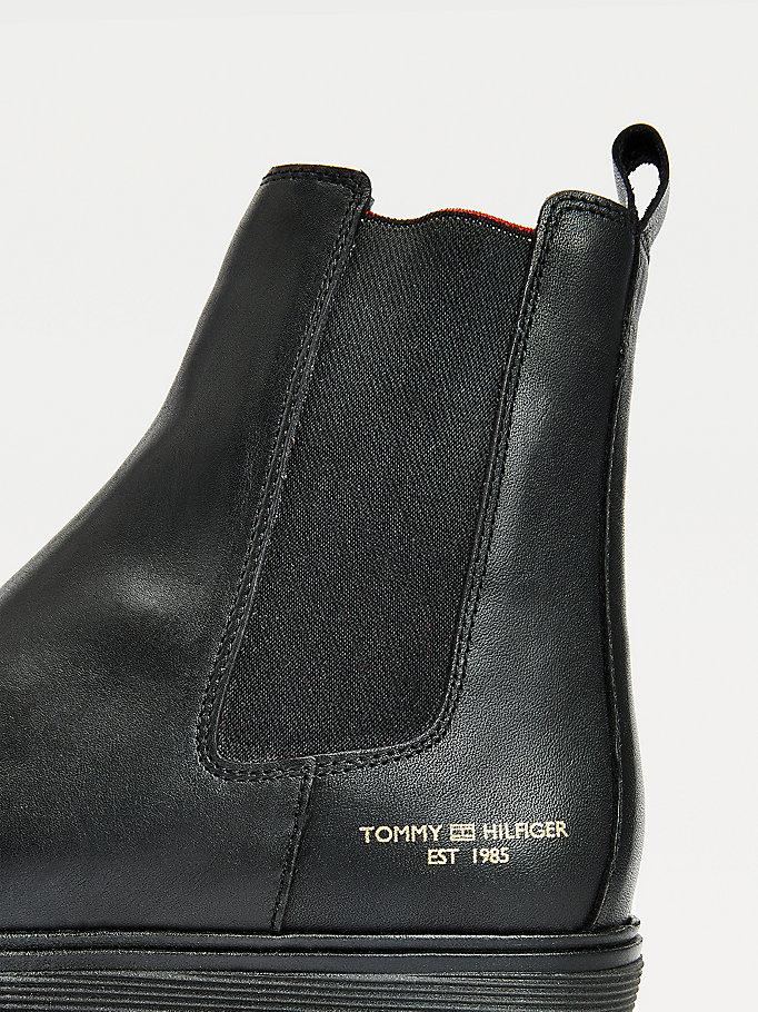 Tommy Hilfiger Cleat Monochrome Chelsea Støvler, Sort, 37