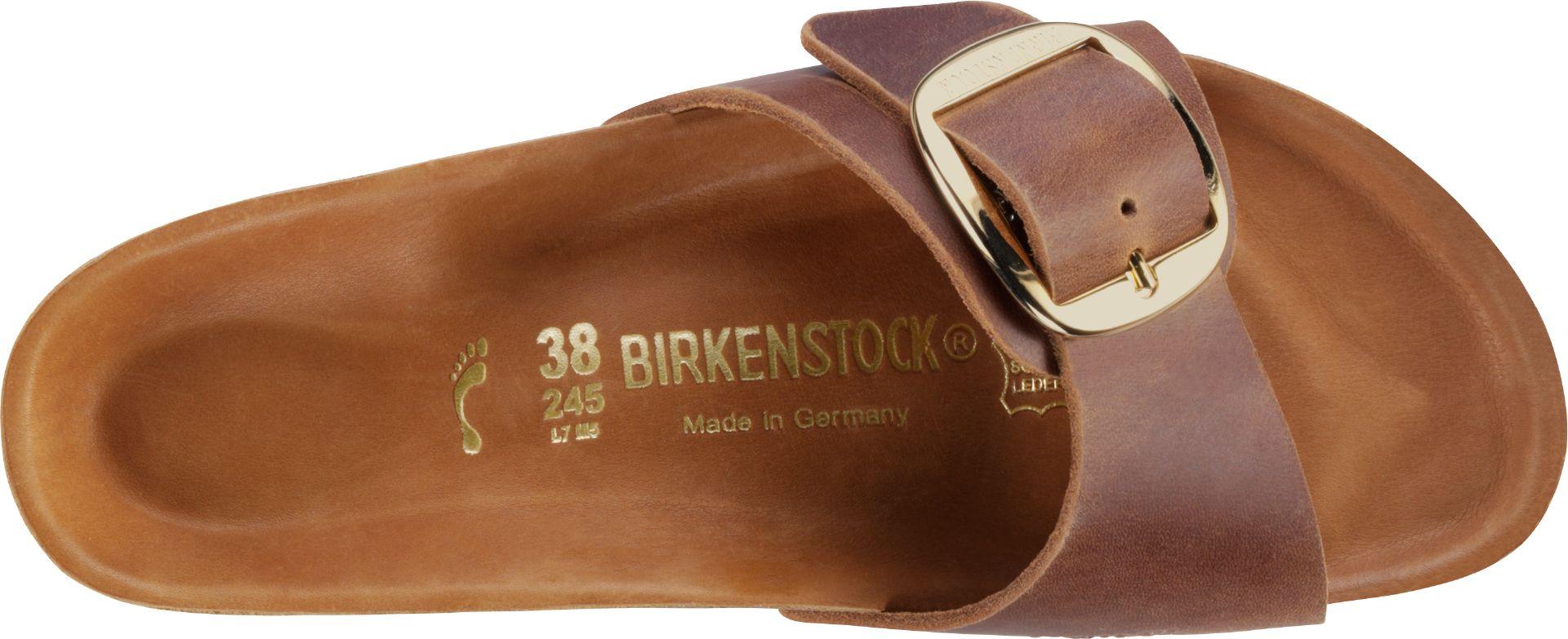 Birkenstock Madrid Big Buckle sandal, cognac, 39