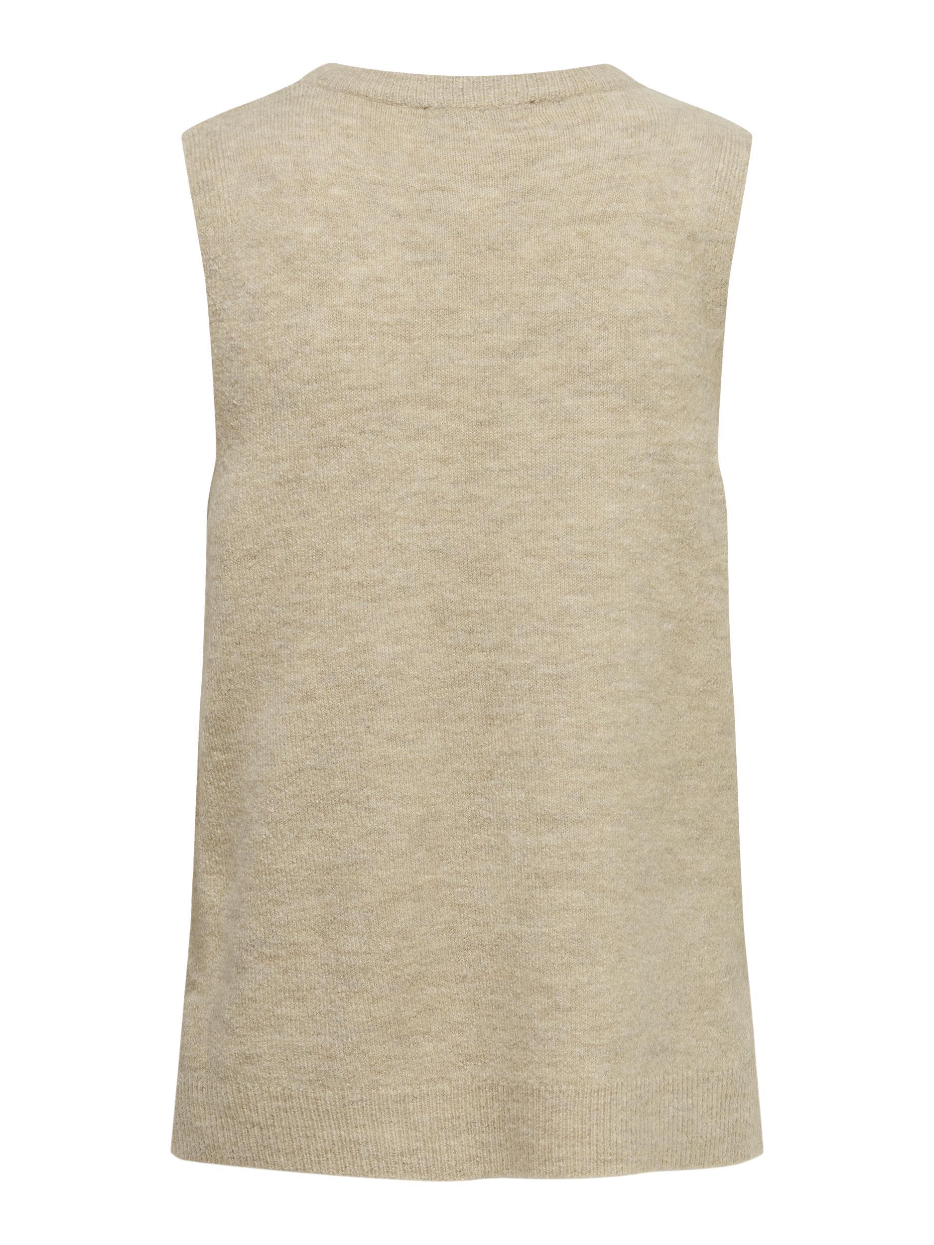 Jacqueline de Yong Elanor vest, oatmeal, large