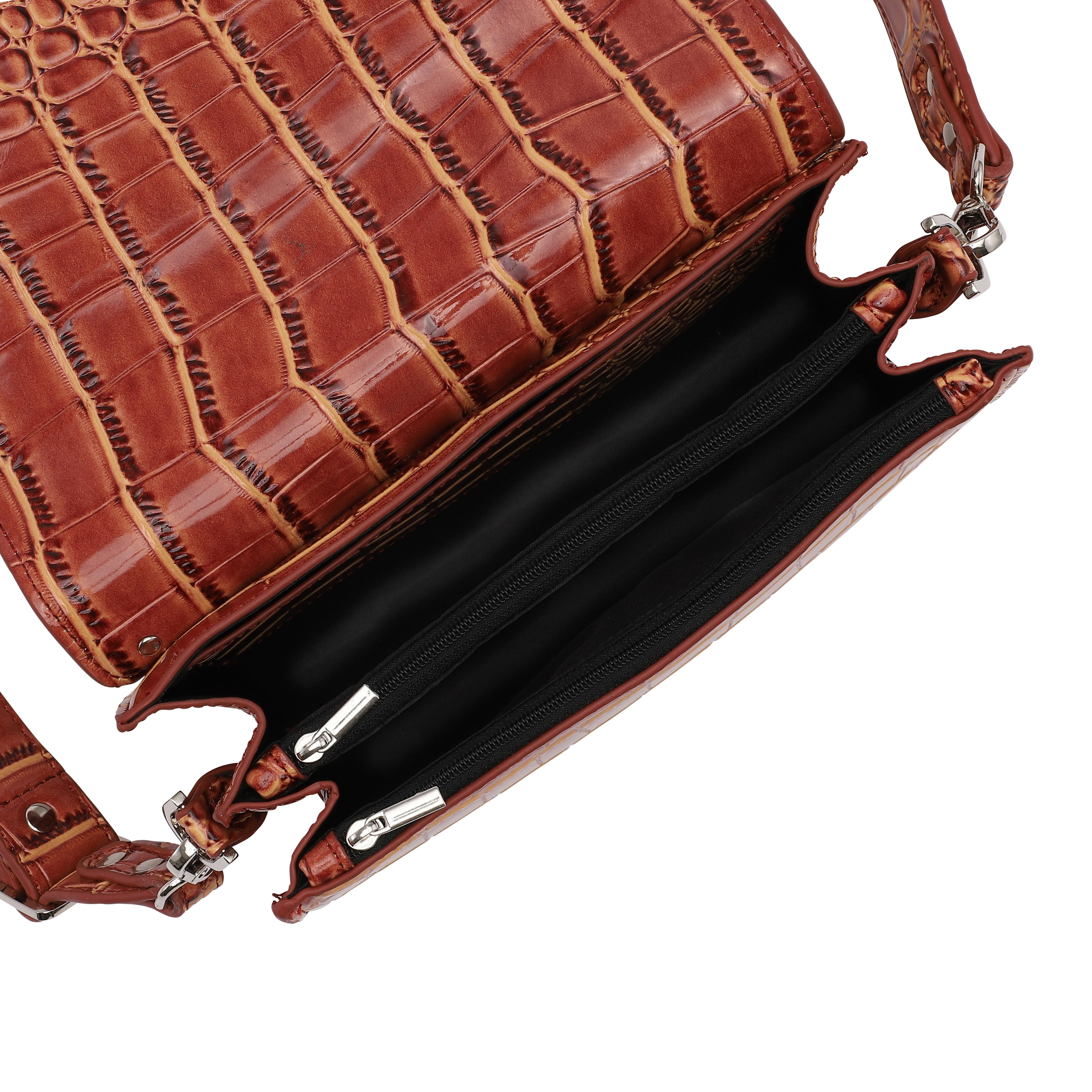 Unlimit Rosemary carry skuldertaske, dark brown