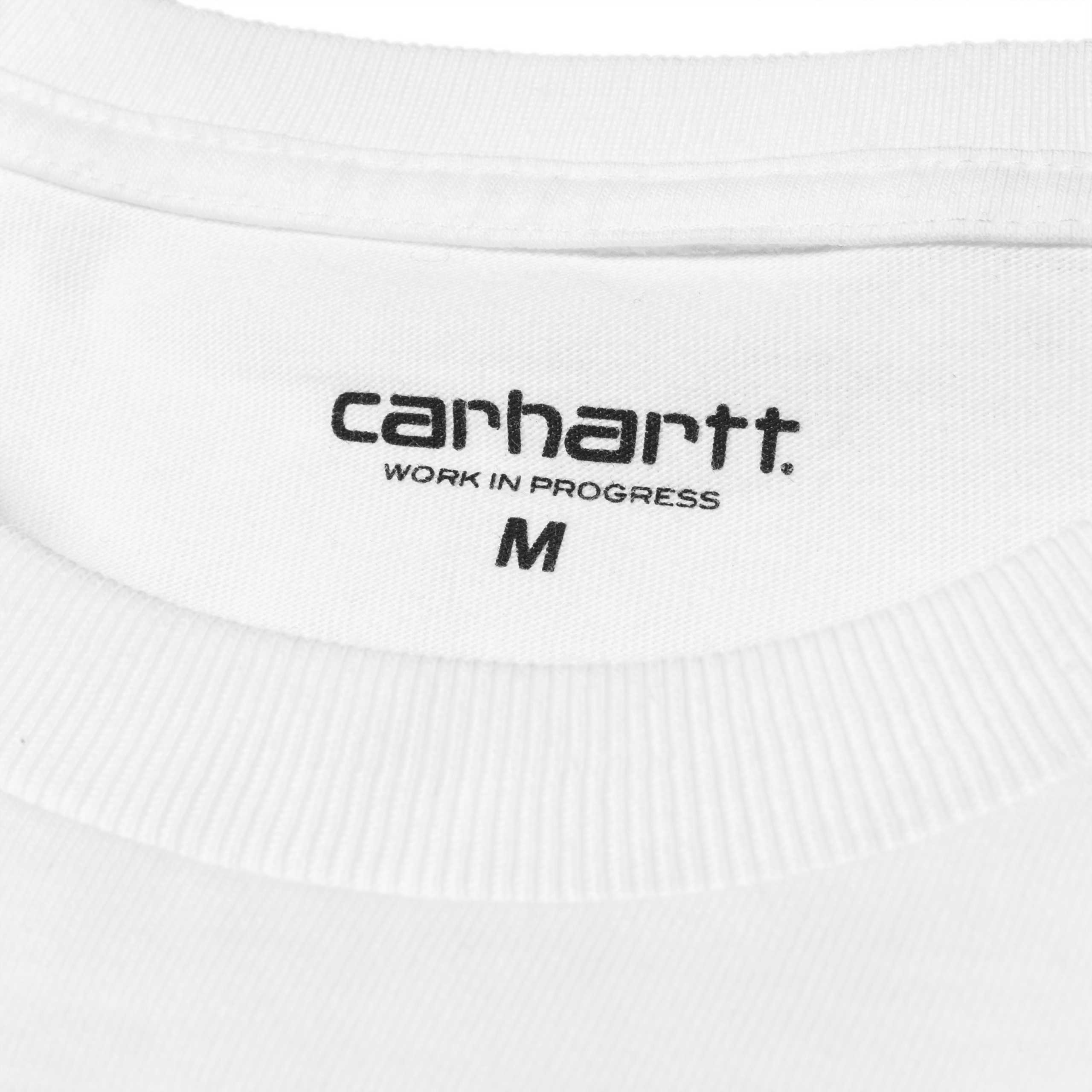 Carhartt L/S Chase t-shirt, white/gold, xx-large