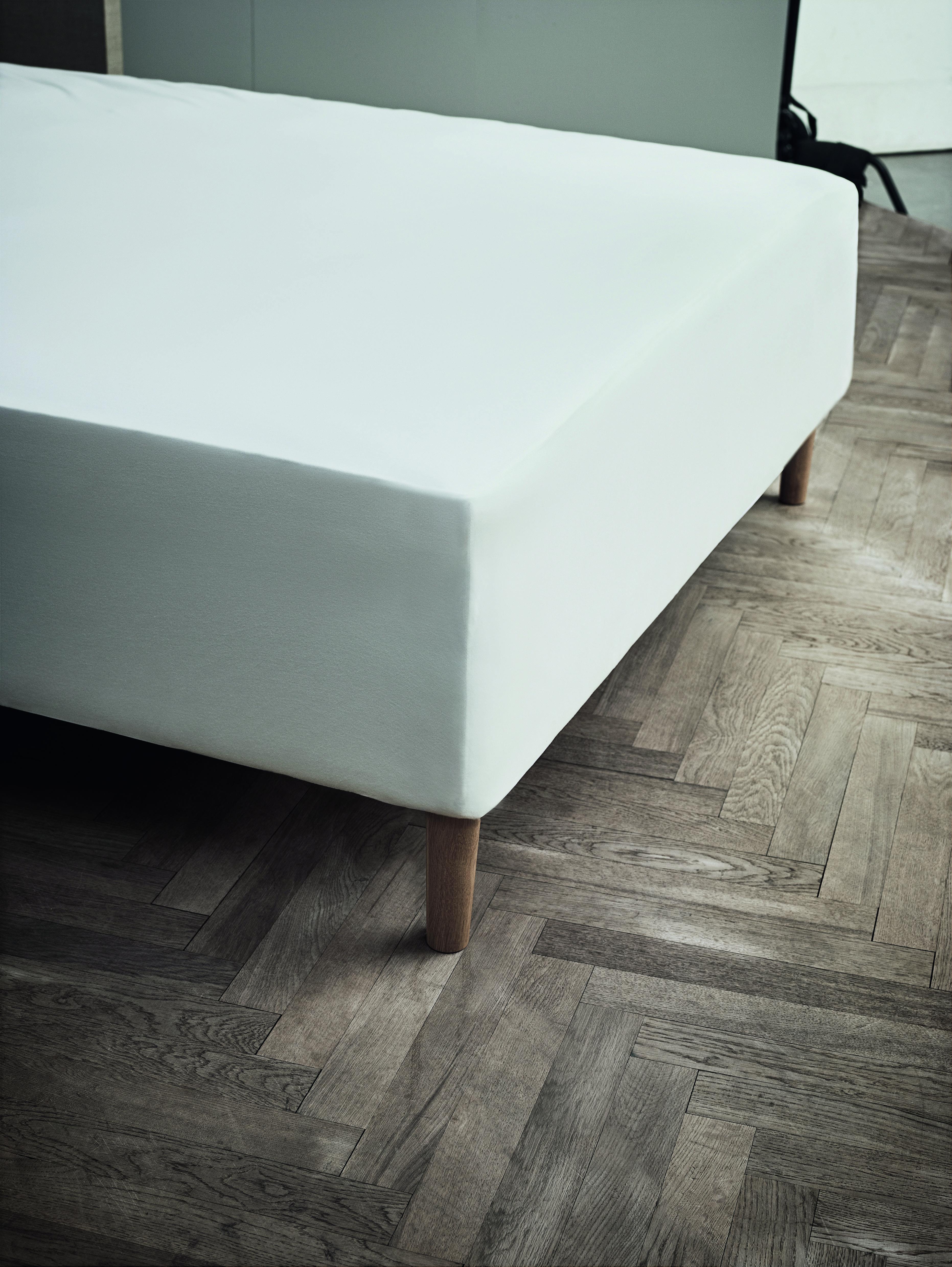 Juna Jersey stræklagen, 45x180x200 cm, white