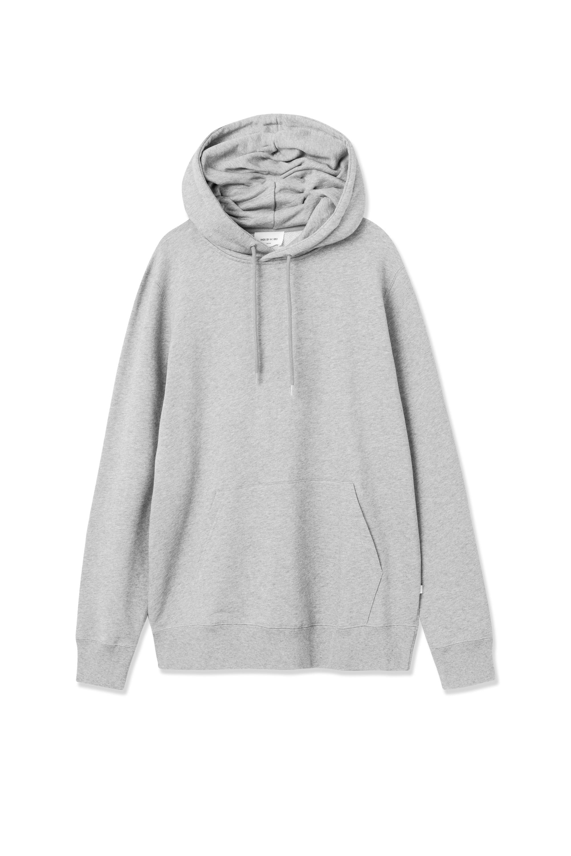 Wood Wood Eddie Classic hoodie, grey melange, medium