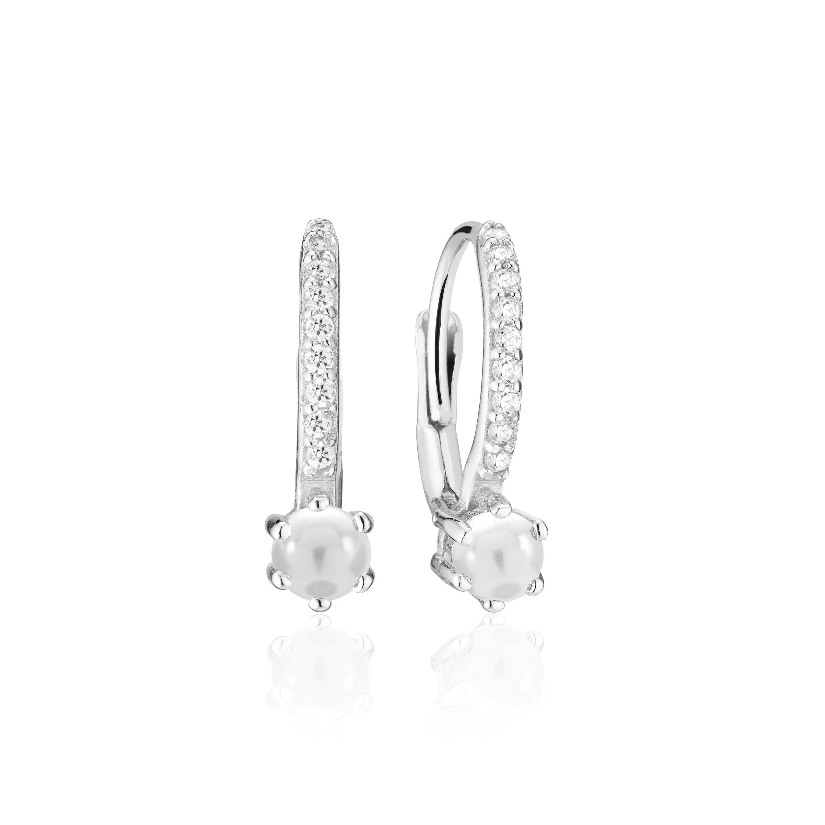 Sif Jakobs Jewellery Rimini Pearl Altro øreringe, sølv/hvid