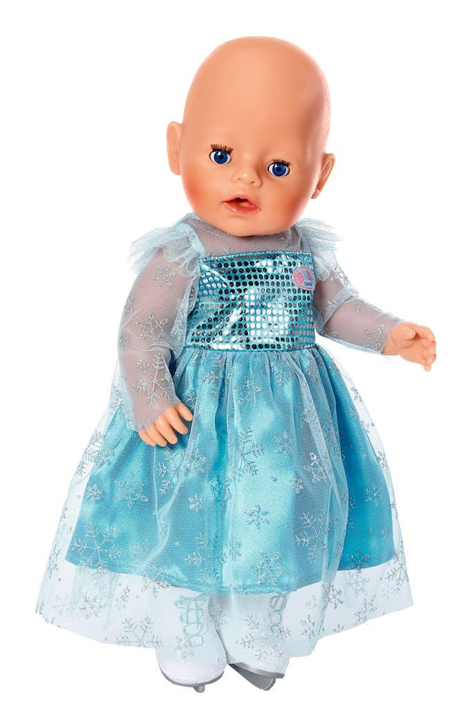 Baby Born kjole m. skøjter