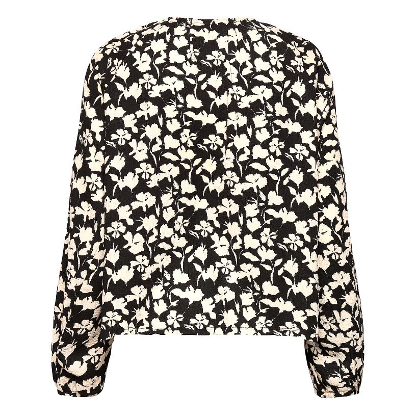 InWear HenryIW bluse, black flower, small