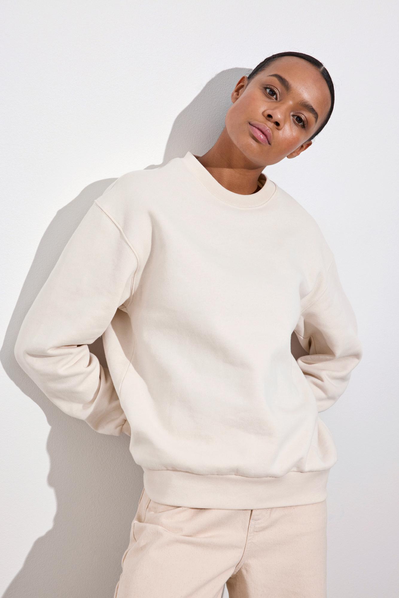 Envii Enmonroe sweatshirt, unbleached, x-large