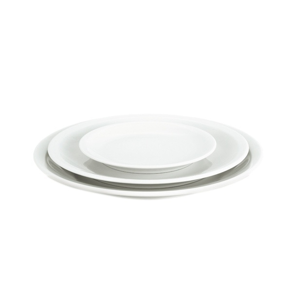 Pillivuyt Bourges frokosttallerken, Ø20 cm, hvid