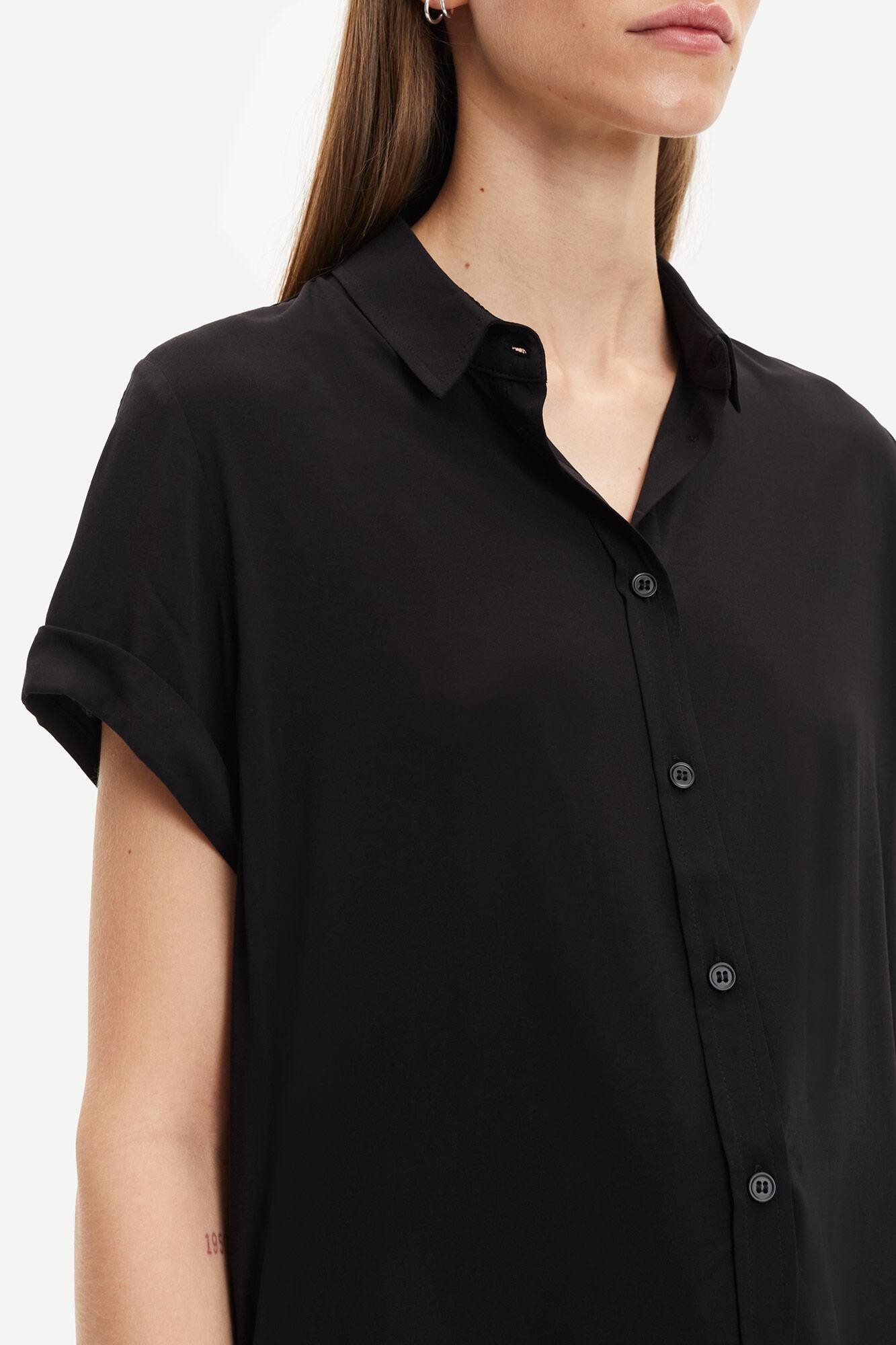 Samsøe & Samsøe Majan SS skjorte, black, x-small
