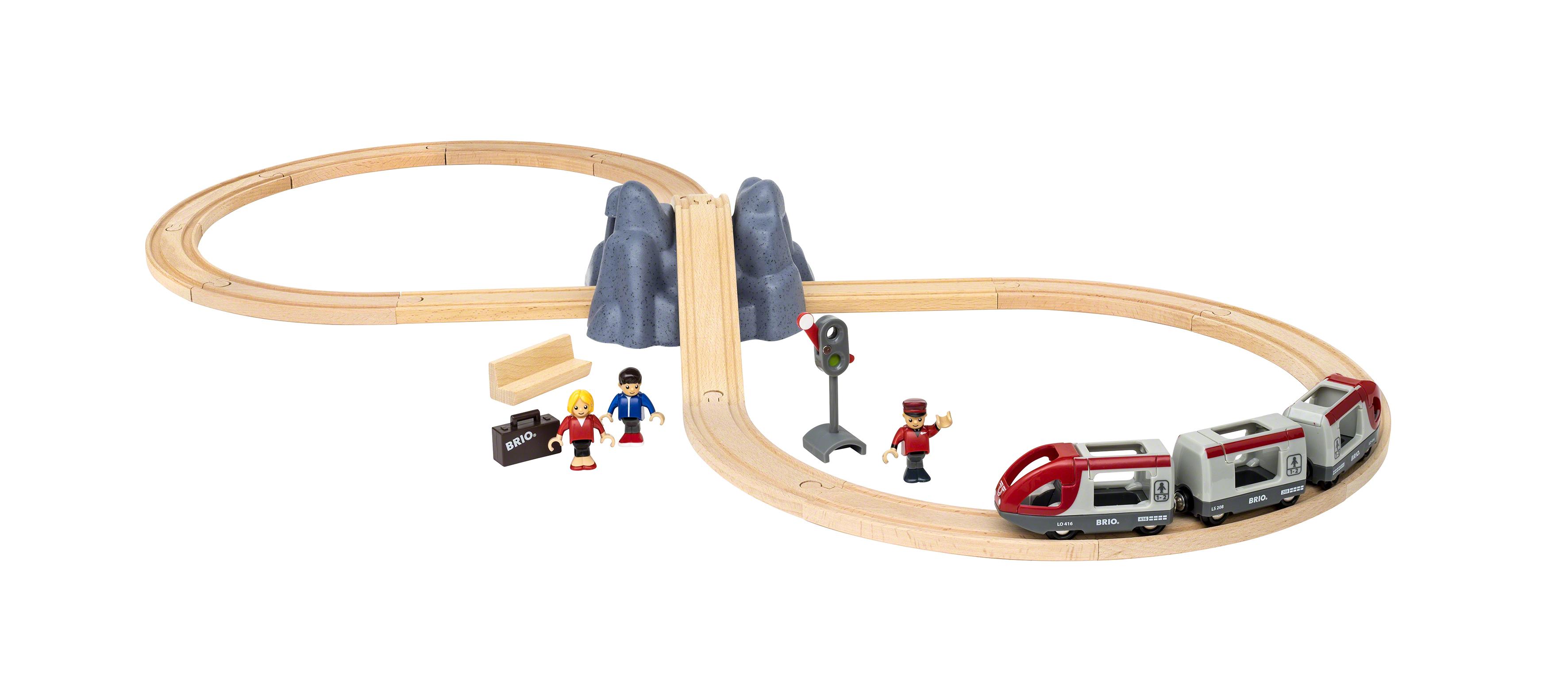 BRIO Togbane startsæt m. tog-tilbehør