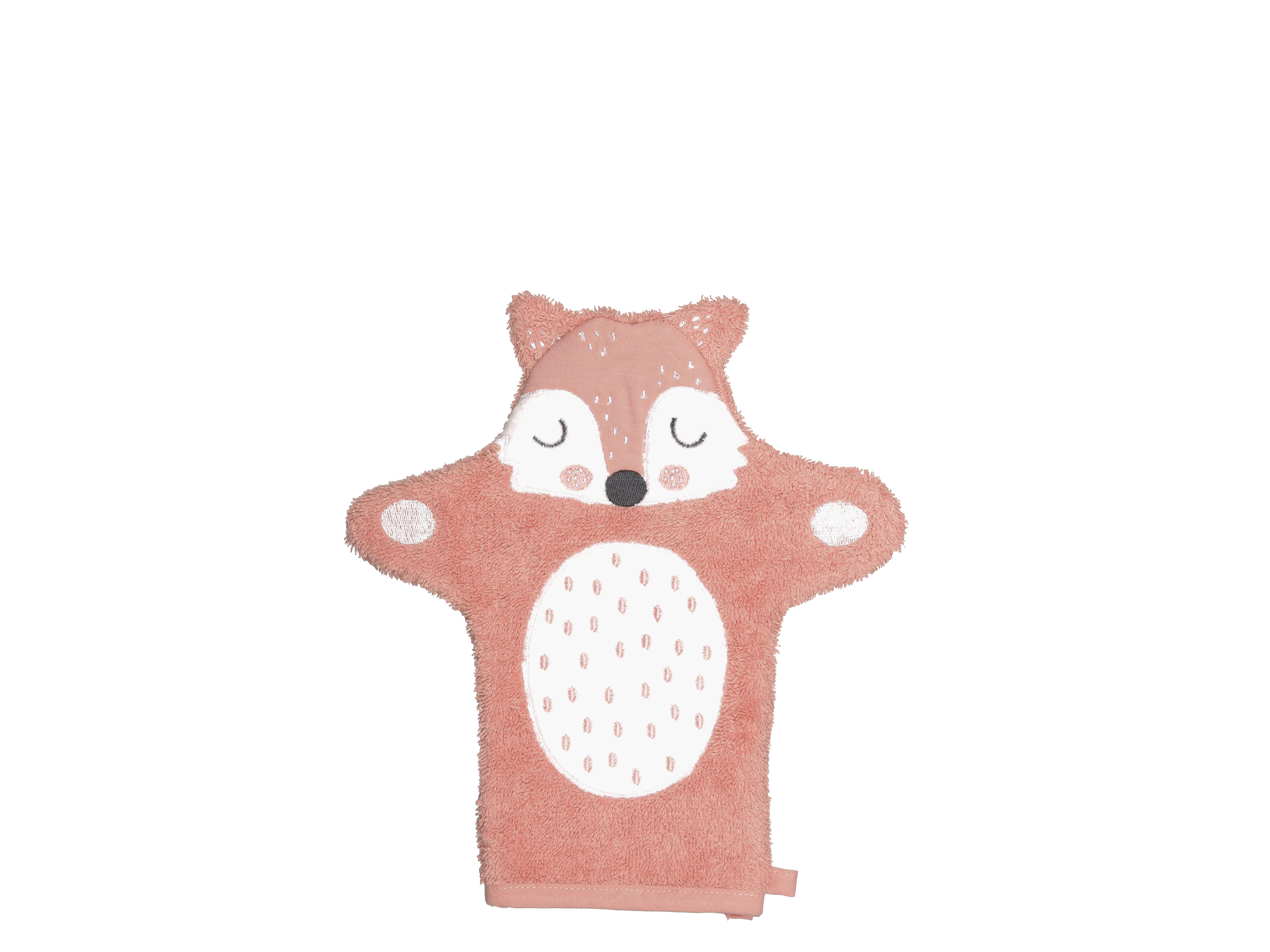 Södahl Frida Fox vaskehandske, 11x21 cm, orange
