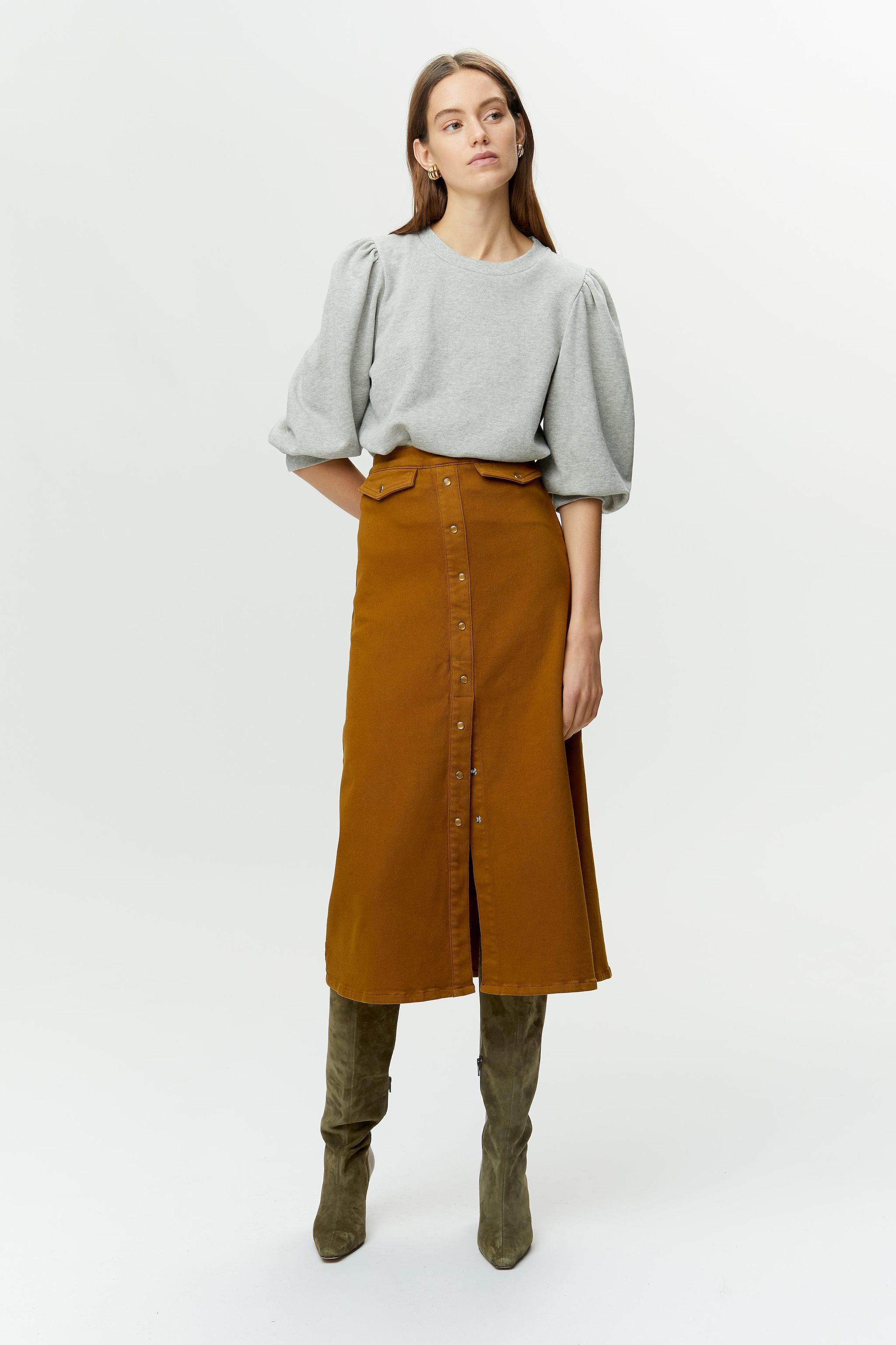 Gestuz Nankita sweatshirt, grey melange, x-large