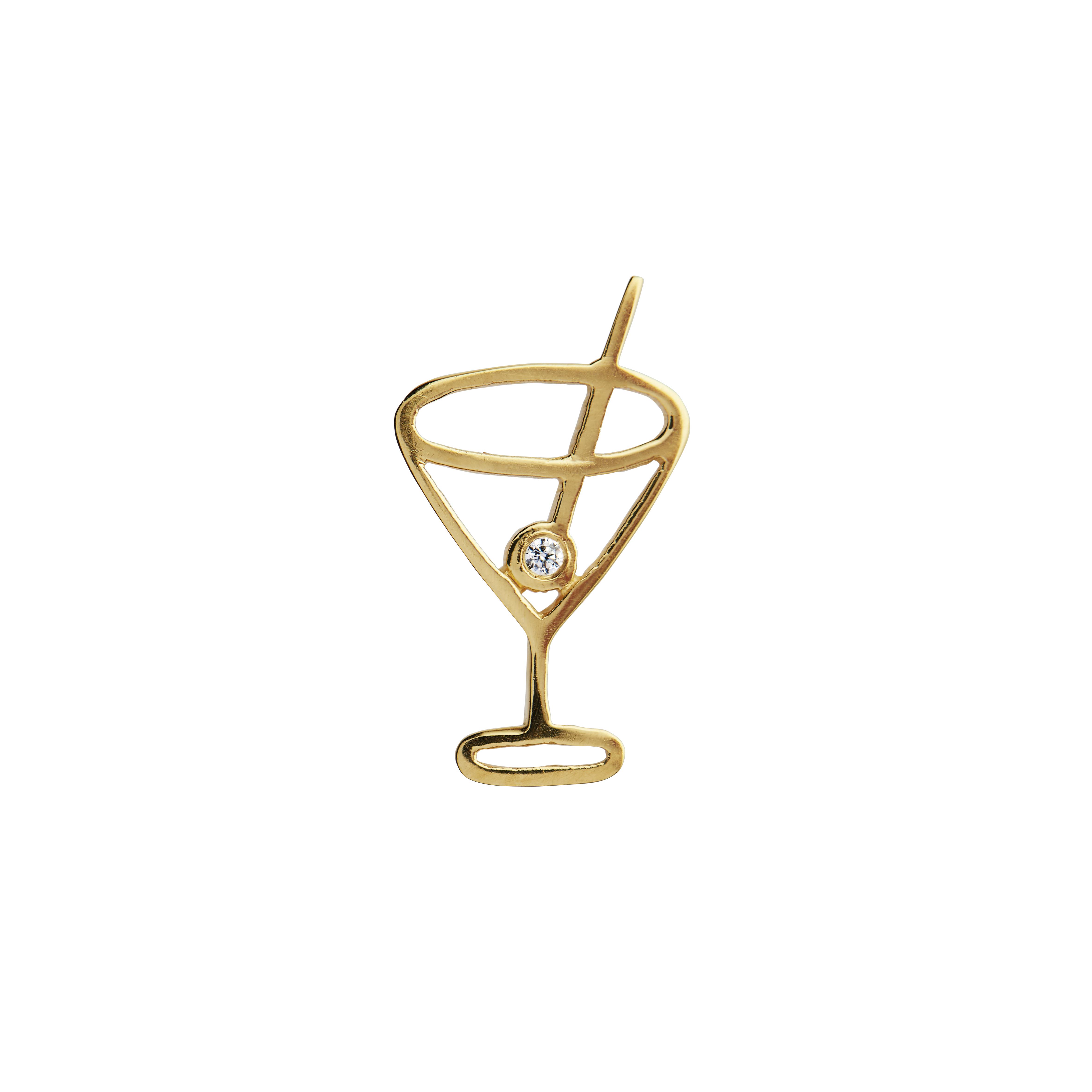 Stine A Petit Cocktail vedhæng, guld
