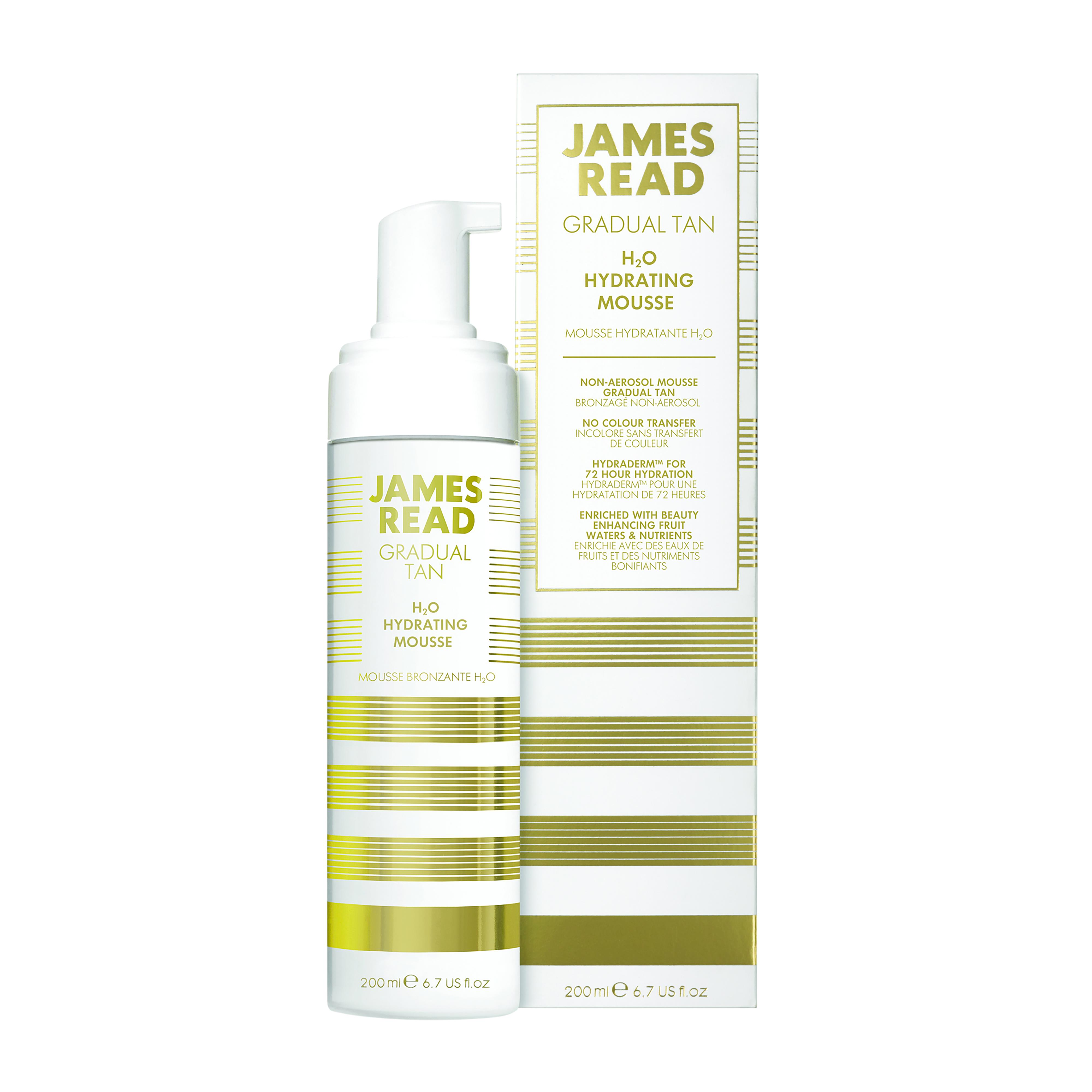 James Read Gradual Tan H2O Hydrating Mousse, 200 ml