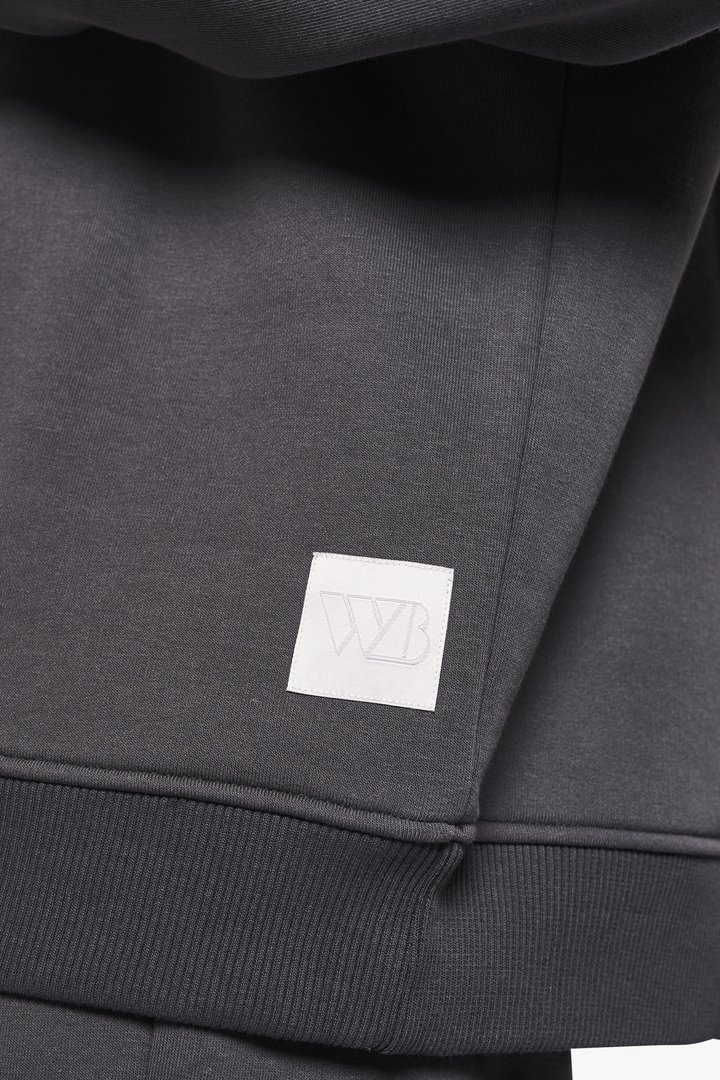 Woodbird Mufti Mitu Crew sweatshirt, dark grey, x-small